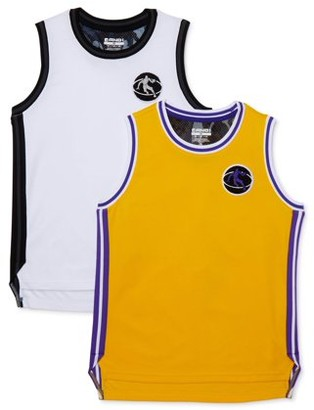 AND 1 AND1 Boys Drop Stop Basketball Mesh Tank Top, 2-Pack, Sizes 4-18