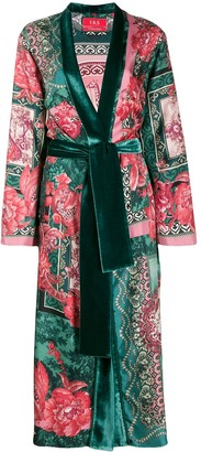 F.R.S For Restless Sleepers floral print robe coat