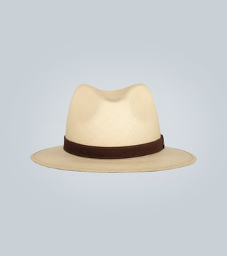 Borsalino Straw Panama hat with suede band