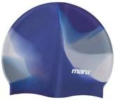 Maru Blue & Silver Silicone Swim Cap