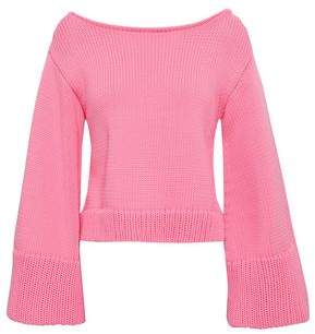 Milly Cropped Cotton-blend Sweater
