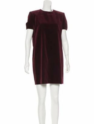Saint Laurent Velvet Shift Dress