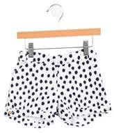 Oscar de la Renta Girls' Mid-Rise Polka Dot Shorts w/ Tags
