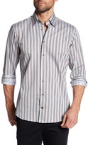 Robert Talbott Striped Print Trim Fit Sport Shirt