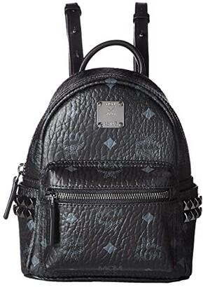 MCM Stark Side Stud X-Mini Backpack (Black) Backpack Bags