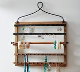 Pottery Barn Pine & Iron Wall-Mounted Jewelry Hanger