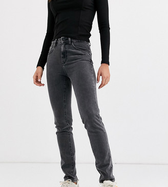 Noisy May Tall straight leg jeans in washed black