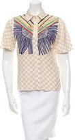 Mara Hoffman Short-Sleeve Button-Up Top