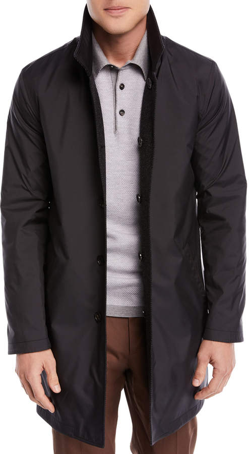 Ermenegildo Zegna Reversible Twill Coat