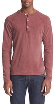 Todd Snyder Men's Long Sleeve Cotton Jersey Henley