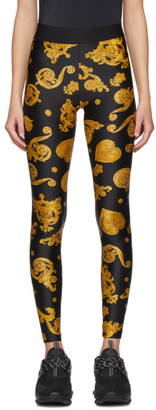 Versace Black Baroque Jewels Leggings