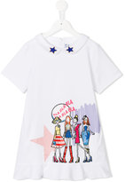 Simonetta printed dress - kids - Cotton/Spandex/Elastane - 4 yrs