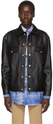 Acne Studios Black Bla Konst Leather Pocket Jacket