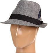 San Diego Hat Company CHA6304 Embroidered Feather Fedora (Grey) - Hats