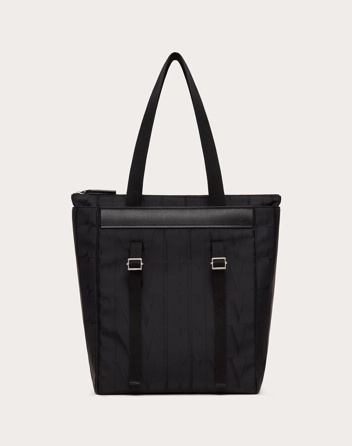 Thumbnail for your product : Valentino Garavani Uomo Vltn Times Nylon Jacquard Tote Bag Man Black 100% Poliammide OneSize