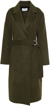 Claudie Pierlot Belted Wool-felt Coat