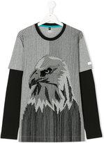 Armani Junior teen eagle layered t-shirt - kids - Cotton - 14 yrs