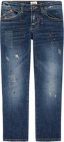Armani Junior Boy slim fit printed jeans