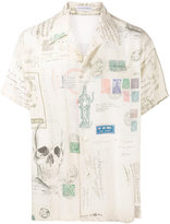 Alexander McQueen letters from India printed shirt - men - Viscose - 14 1/2