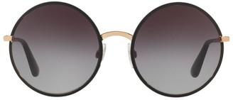 Dolce & Gabbana Round Metal Frame Sunglasses