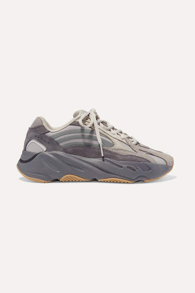 timeless design 4554e af45e Yeezy Boost 700 V2 Mesh, Suede And Leather Sneakers - Gray