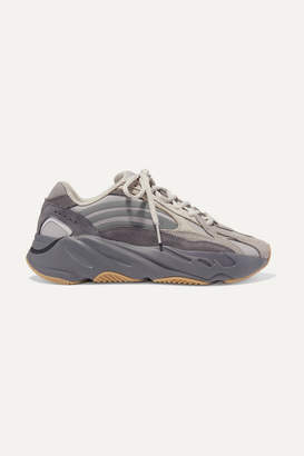 adidas Yeezy Boost 700 V2 Mesh, Suede And Leather Sneakers - Gray