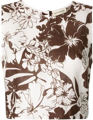 Nicholas Floral Print Top