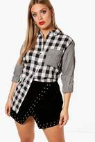 boohoo Plus Lindsay Mix & Match Check Shirt