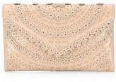 Alaia Oum Floral Leather Clutch