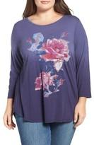 Lucky Brand Plus Size Women's Rose Bouquet Tee