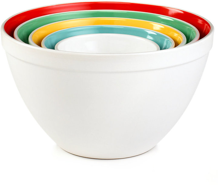 Martha Stewart Collection Mixing Bowls, Set of 5 Ceramic