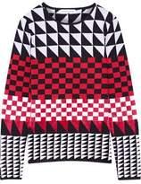Altuzarra Shiner Paneled Jacquard-Knit Sweater