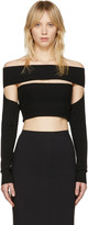 McQ by Alexander McQueen Black Bandeau Off-the-shoulder Top