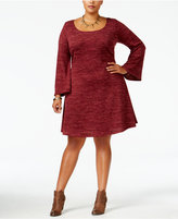 Love Squared Trendy Plus Size Marled Fit & Flare Dress