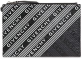 Givenchy ALL OVER LOGO PRINT LEATHER POUCH