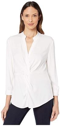 Nic+Zoe Twist Up Top (Paper White) Women's Clothing