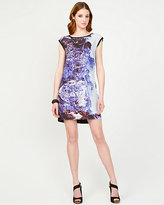 Le Château Abstract Print Crêpe de Chine Mini Dress