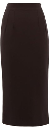 Dolce & Gabbana High-rise Wool-blend Pencil Skirt - Black
