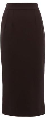Dolce & Gabbana High-rise Wool-blend Pencil Skirt - Womens - Black