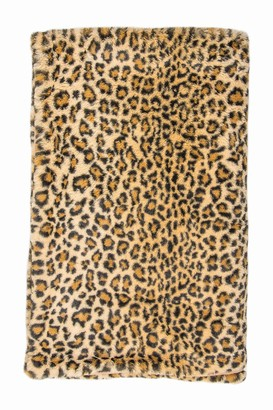 "Luxe Burke Leopard Print Faux Fur Throw - 50"" x 60"""