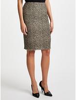 Marc Cain Jacquard Printed Midi Skirt, Hazelnut
