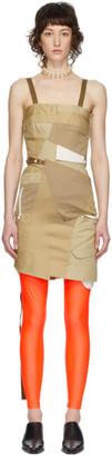 Junya Watanabe Beige Patchwork Trench Dress