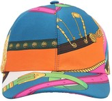 Versace PRINTED SILK TWILL BASEBALL HAT