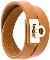 Salvatore Ferragamo Gancio lock wrap bracelet
