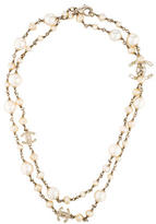 Chanel CC Pearl Strand Necklace
