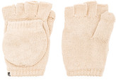 Plush Fleece Lined Texting Mittens in Beige.