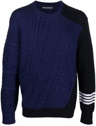 Neil Barrett Colour-Block Knitted Jumper