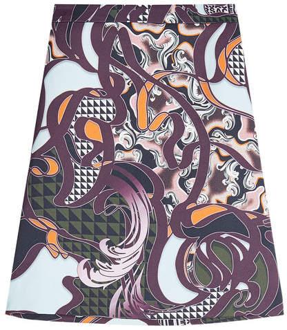Versace Printed Skirt with Silk