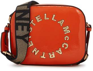 Stella McCartney Stella Logo Mini Orange Cross-body Bag