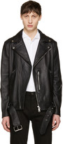 Acne Studios Black Nate Leather Jacket